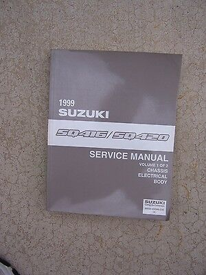 1999 Suzuki Auto SQ416 SQ420 Service Manual Vol 1 Chassis Electrical Body  R