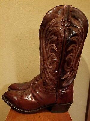 J. CHISHOLM Leather Cowboy Boots Men 8.5 D