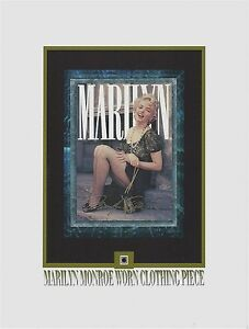 MARILYN MONROE personal used worn CLOTHING PIECE relic, swatch, portion, owned