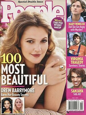 100 Most Beautiful    Drew Barrymore    People Magazine   5 7 07    A 1 2   New