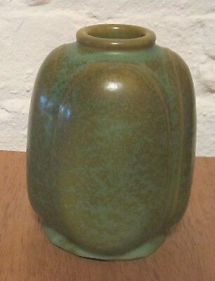 Rare Chicago Crucible Green and Brown Scarab Vase (1910's)