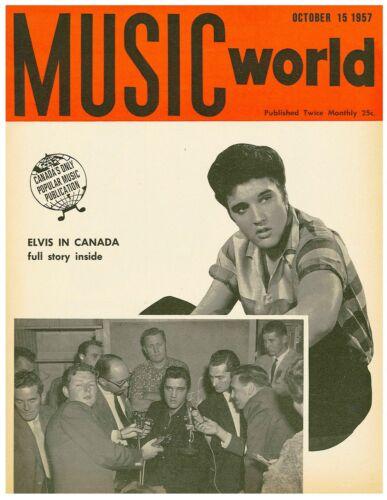 1957 Elvis Presley 8 x 10 Music World Magazine Cover Reproduction Print