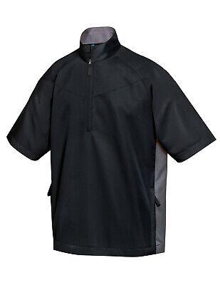 Tri-Mountain Men's Water Resistant Zip Short Sleeve Windshirt Activewear