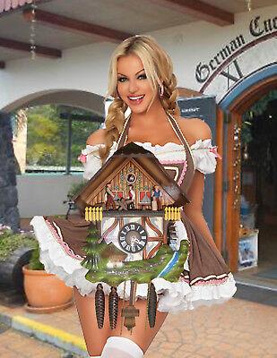 German made Vintage  Musical Woodchopper 1 Day Cuckoo Clock CK2144