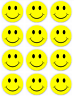 Happy face smiley Wholesale Button Pins~ 2.25