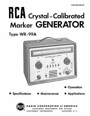 Rca Wr-99a Crystal-calibrated Marker Generator Manual