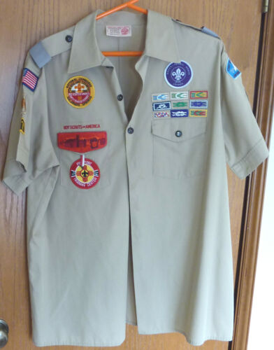 BSA Adult Leader Shirt Patches Square Knot Seattle Council Camp Parsons XL USA
