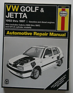 VW Golf & Jetta 1993-1997 Repair Manual Haynes