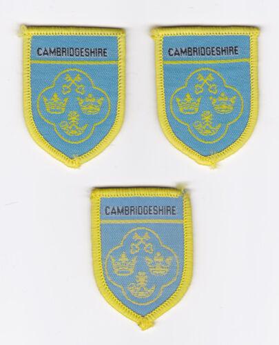 SCOUTS OF BRITISH / UNITED KINGDOM - UK SCOUT CAMBRIDGESHIRE COUNTY BADGE (3 VAR