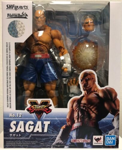 S.H.Figuarts Sagat Street Fighter V Action Figure Bandai Tamashii NEW in Stock
