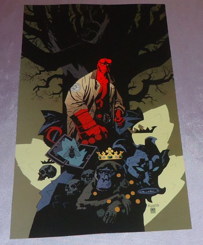 HELLBOY BOX FULL OF EVIL FRENCH ED~COVER ART PRINT~MIKE MIGNOLA/ARTIST/CREATOR