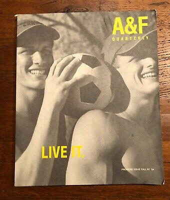 RARE ISSUE 1 1997 PREMIERE Abercrombie & Fitch catalog A&F Quarterly Bruce Weber