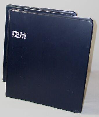 Ibm Vintage Loose Leaf Folder Notebook Binder Rings Vinyl Ibm Logo Set Of 2