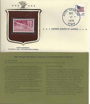 Historic Stamps of America WRIGHT BROTHERS AIRMAIL Commemorative Stamp