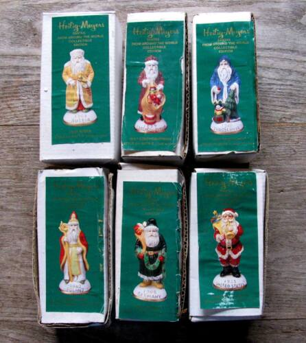 Set of 6 Vintage Heilig-Meyers Santas Christmas from Around the World Collection