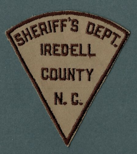 Iredell County North Carolina Sheriff Police Patch  *Cut Border*