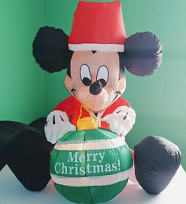 Airblown Inflatable Christmas Mickey Mouse Santa Ornament Disney 3.5 Ft Gemmy
