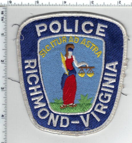 Richmond Police (Virginia) Uniform Take-Off Shoulder Patch from the 1980