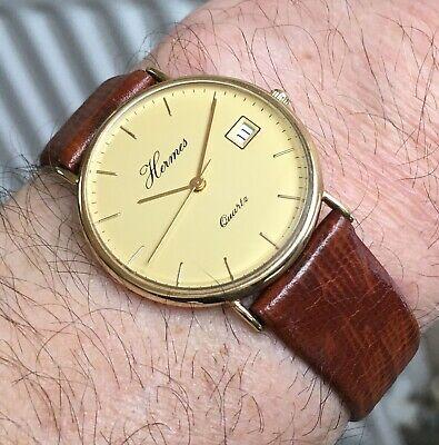 Vintage Hermes 9ct Gold Watch Quartz