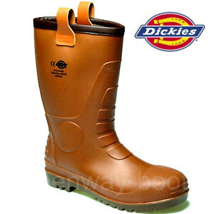 MENS-WELLINGTON-DICKIES-RIGGER-FUR-LINED-SAFETY-STEEL-TOE-CAP-WORK-BOOTS-SHOE