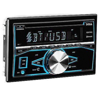 BOSS Audio 850BRGB Double Din Car Stereo Audio System with Bluetooth and Remote