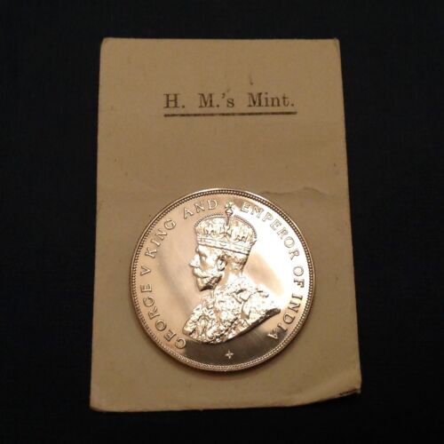 -1920 Straits Settlements George V Silver Dollar Proof Restrike W/ Mint Envelope