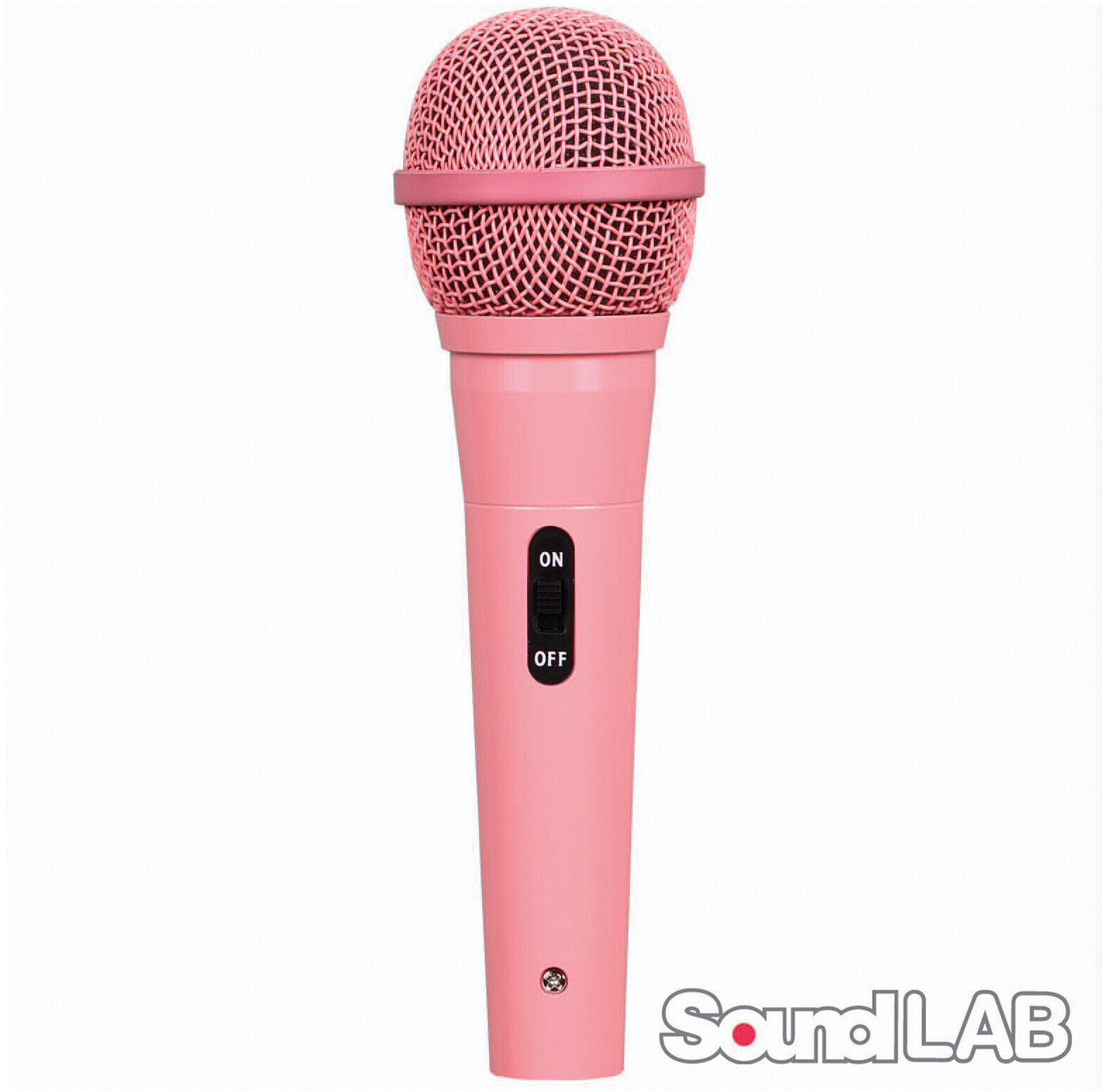 Soundlab G158MP dynamisches Mikrofon inkl Kabel 6,3mm Klinke Gesang Karaoke Pink