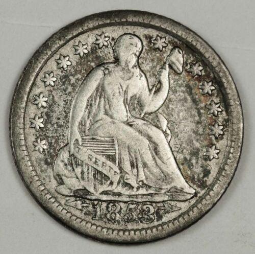 1853-o Liberty Seated Half Dime.  Natural Fine.  141589