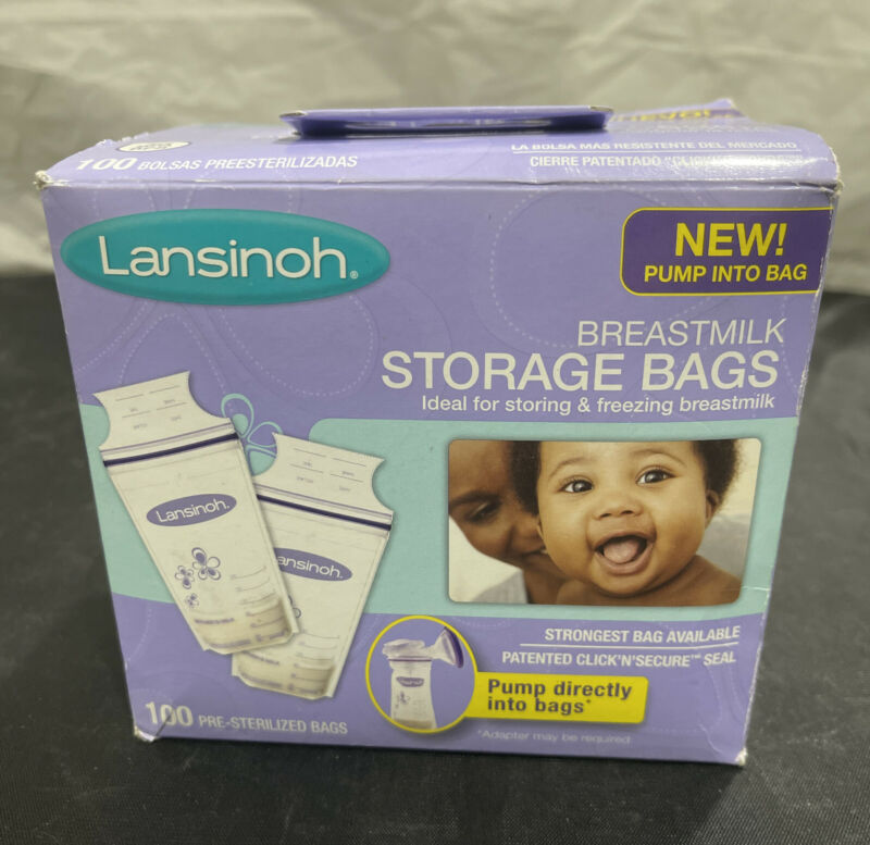 LANSINOH Breastmilk Storage Bags - 100 Count In Box Sealed - BRAND NEW