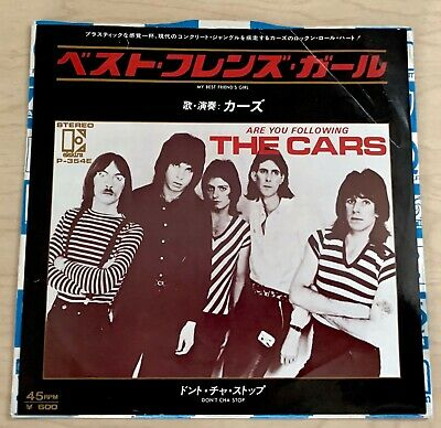 "THE CARS Best Friend's Girl (1978) 7"" Single JAPAN Elektra New Wave"