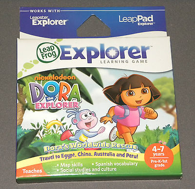 Dora The Explorer Leap Frog Leap Pad Leappad 2 Leapster Explorer Game Games