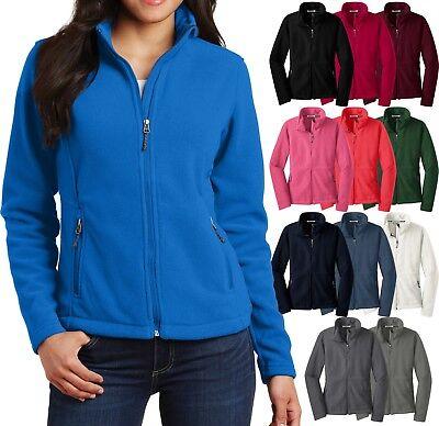 Ladies Plus Size Polar Fleece Jacket Zippered Pockets Womens Coat XL 2XL 3XL 4XL