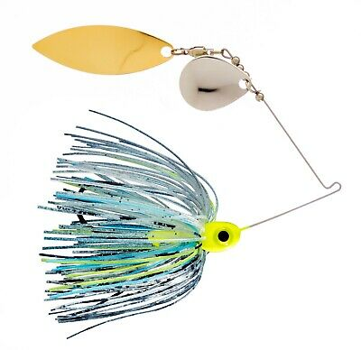 1//4oz  Spinner Bait  White  Colorado//Willow  3-pack FREE SHIPPING!!!!!