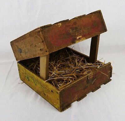 Antique Vintage Primitive Wood Litho Print Excelsior Incubator Box