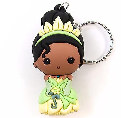 "Disney 3D Figural Keyring Princesses Series 7 TIANA 3"" KEYCHAIN Blind Bag NEW"