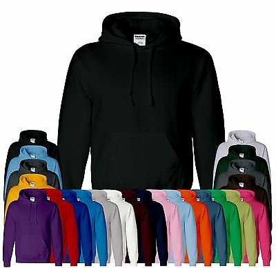 Gildan Heavy Blend Plain Hooded Sweatshirt Sweat Hoody Jumper Pullover Hoodie