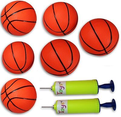 Inflatable Basketball Hoop (6 Pack Inflatable Magic Shot Pro Mini Hoop Basketballs with Pump (4 Inch)