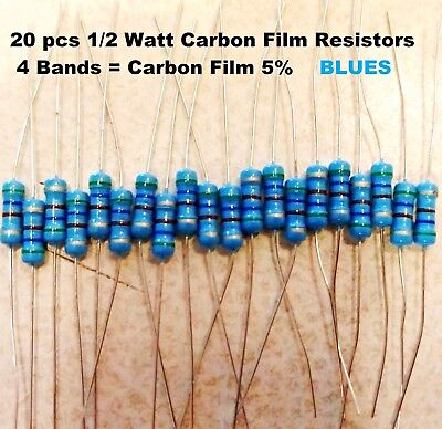 470 Ohm 12watt Blue Carbon Film Resistors 5 You Get 20 Resistors