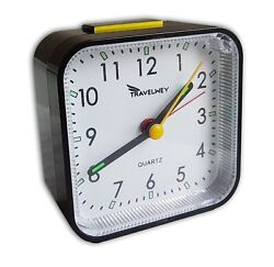 Basic Small Travel Alarm Clock, Quiet, Lights up, Portable with Snooze       A27