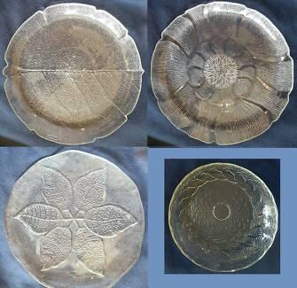 Large Quality Glass Serving Platters Set (Set of 4)