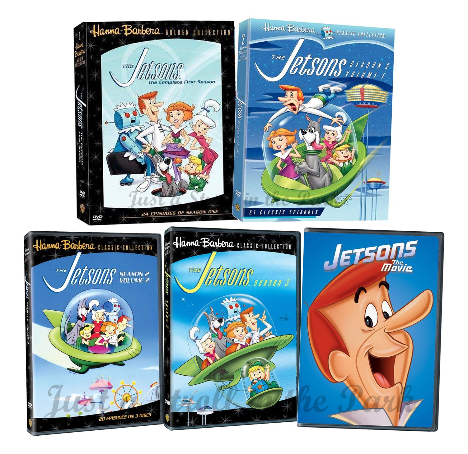 The Jetsons: Complete TV Series Seasons 1 2 3 + The Movie Box / DVD ...