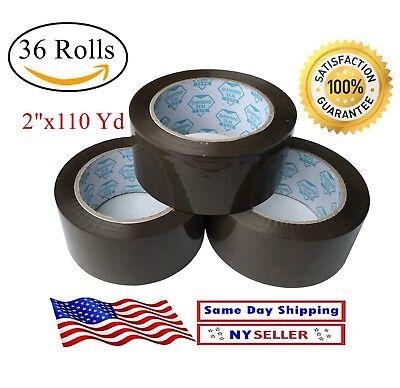 36 Rolls Brown/ Tan Packing Shipping Carton  Sealing Rolls Tape - 2