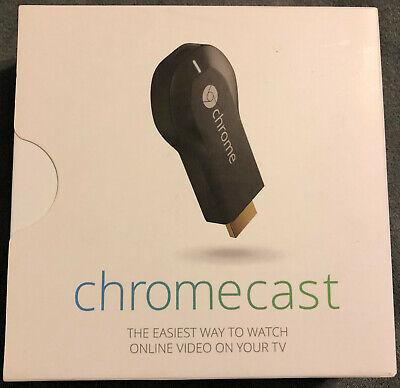 Google Chromecast (1st Generation) HDMI Media Streamer - Black (H2G2-42)