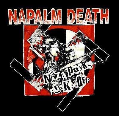 NAPALM DEATH cd cvr NAZI PUNKS F#CK OFF Official SHIRT :LAST XL New OOP