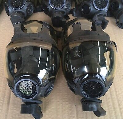 Authentic Msa Millennium Cbrn 40mm Gas Mask Large Oem Full Face Respirator Mask
