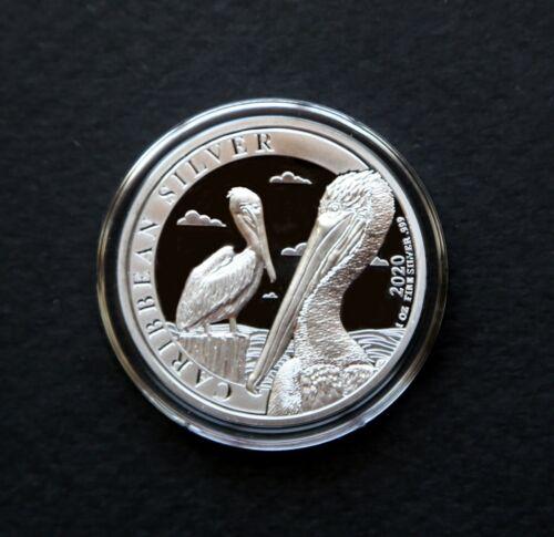 2020 Barbados 1 Dollar Pelican,1 oz .999 Silver Proof-Like Coin