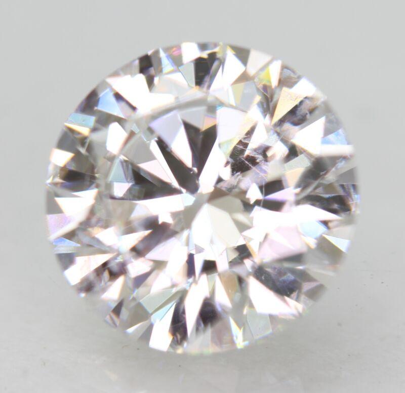 Certified 1.72 Carat D VVS2 Round Brilliant Enhanced Natural Loose Diamond 7.81m