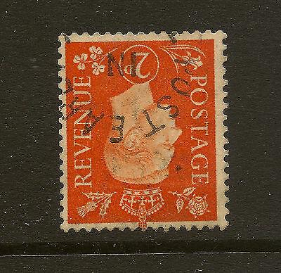 GB : 1938 2d orange inverted watermark  SG 465wi  used