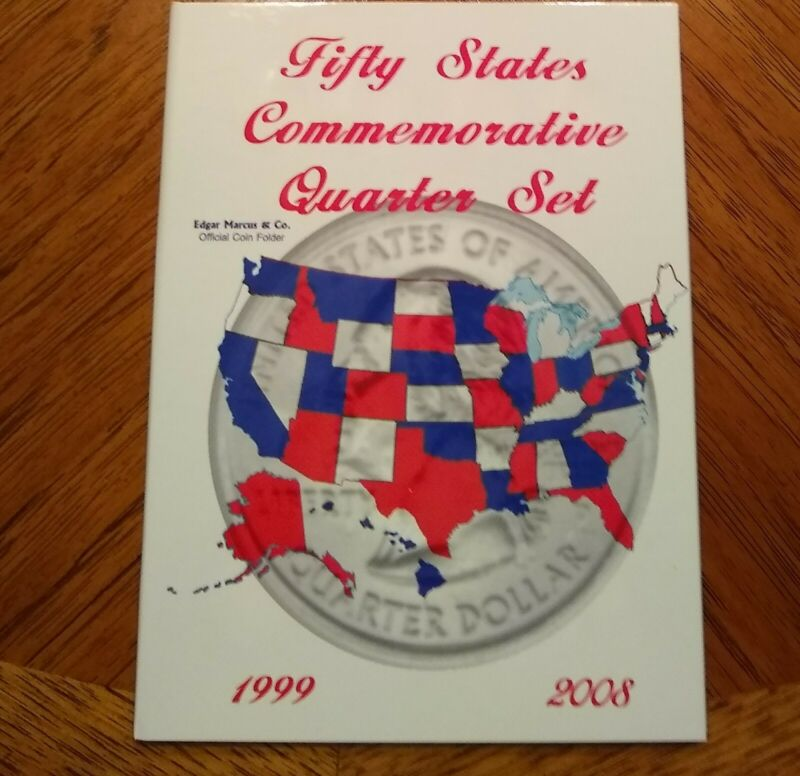 Edgar Marcus Fifty States Quarters Coin Folder  ( Book / Album )