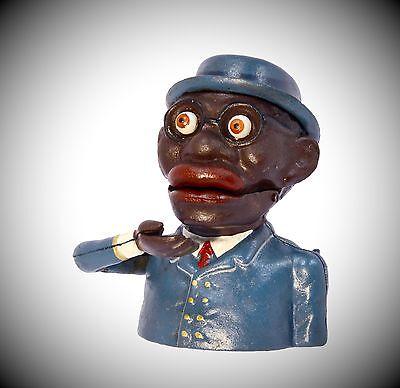 Spardose Mechan. Figur Jolly Weihnacht Geschenk Vintage Deko Spielzeug Sparspass